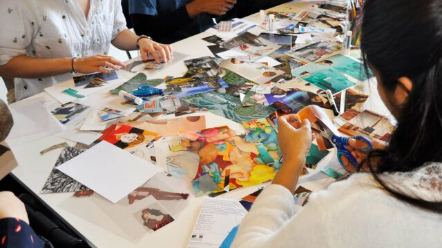 TD Community Sunday (In-person): Collage making inspired by the work of artist Saroja Ponnambalam